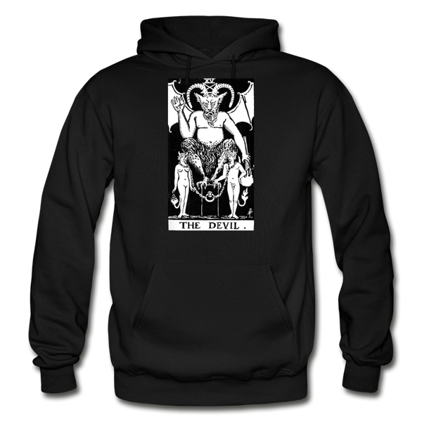 The Devil Gildan Heavy Blend Adult Hoodie - black