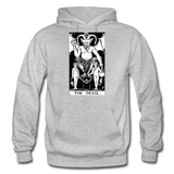 The Devil Gildan Heavy Blend Adult Hoodie - heather gray