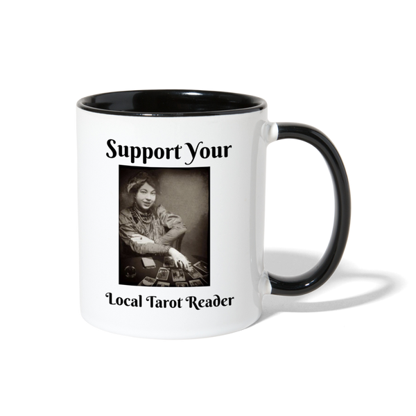 Support your Local Tarot Reader Contrast Coffee Mug - white/black