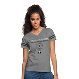 The Brighter the Light Women's Vintage Sport T-Shirt - heather gray/charcoal