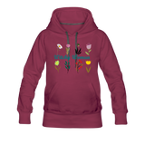 Witchy Woman Women's Premium Hoodie - burgundy