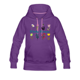 Witchy Woman Women's Premium Hoodie - purple