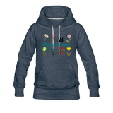 Witchy Woman Women's Premium Hoodie - heather denim