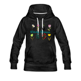Witchy Woman Women's Premium Hoodie - charcoal gray