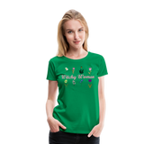 Witchy Woman Women's Premium T-Shirt - kelly green