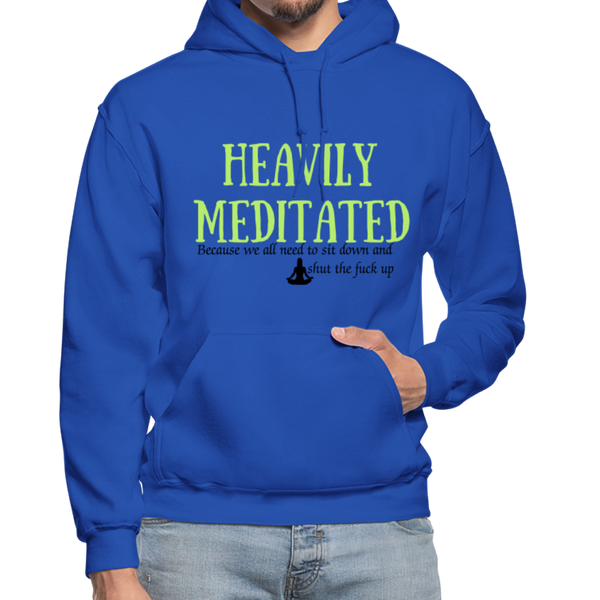 Heavily Meditated Gildan Heavy Blend Adult Hoodie - royal blue