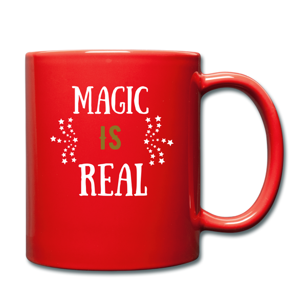 Magic IS Real Full Color Mug - red