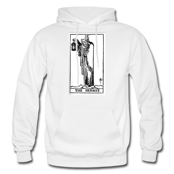 The Hermit Gildan Heavy Blend Adult Hoodie - white