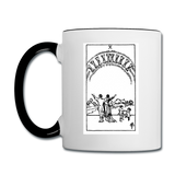 10 of Cups Contrast Coffee Mug - white/black