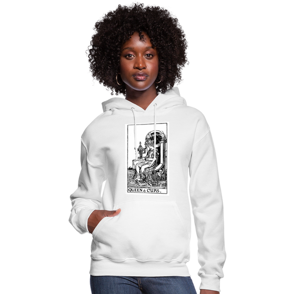 Queen of Cups Women's Hoodie - white