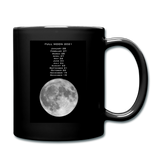 Full Moon Full Color Mug - black