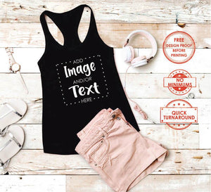 Custom Women's Tank Top Shirt - Gift Bar Custom Shirt and gift printing