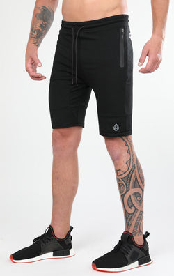 Men's Black Tapered Shorts