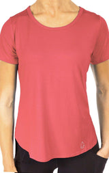 Women's Side Slit Tees - Blush Pink