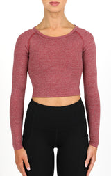TSC Dry Fit Crop Top - Burgundy