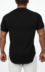 Men's Premium Scoop Tee - Black