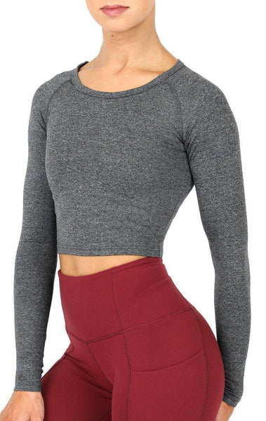 TSC Dry Fit Crop Top - Black Marble