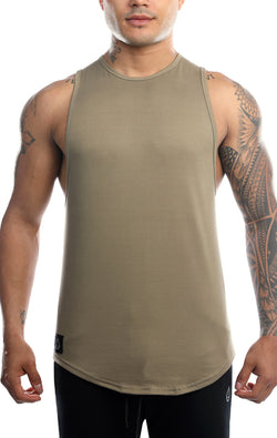 Men's Deluxe Scoop Tank - Army