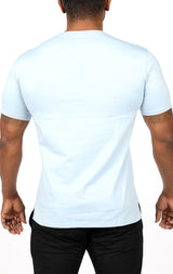 Men's Supreme Split Tee - Pale Blue