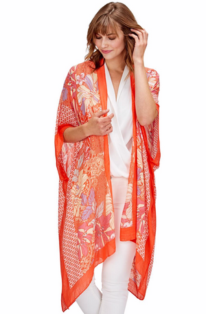 Milano Floral Kimono by Two Chic