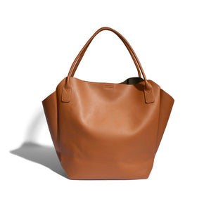Rachel Tote Small in Cognac by Pixie Mood