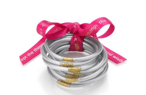 Silver All Weather Bangles by BudhaGirl