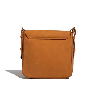 Scarlett Crossbody in Nubuck Cognac by Pixie Mood