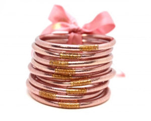 Rose Gold All Weather Bangles by BudhaGirl