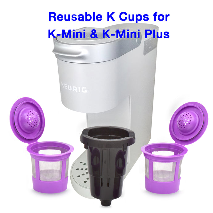 Reusable K cups with adapter for K-Mini and K-Mini Plus | Keurig Mini and Plus Models