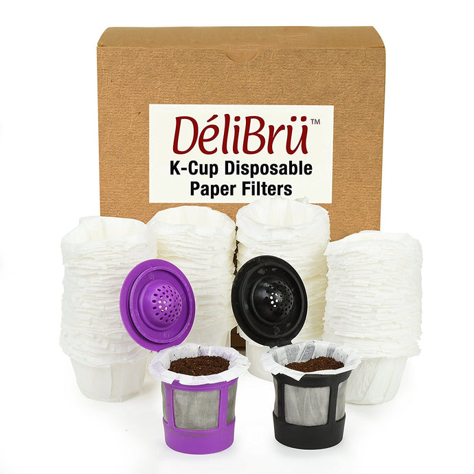 Optional Disposable Paper Filters for Reusable K Cups (100/Box) Fits All Brands