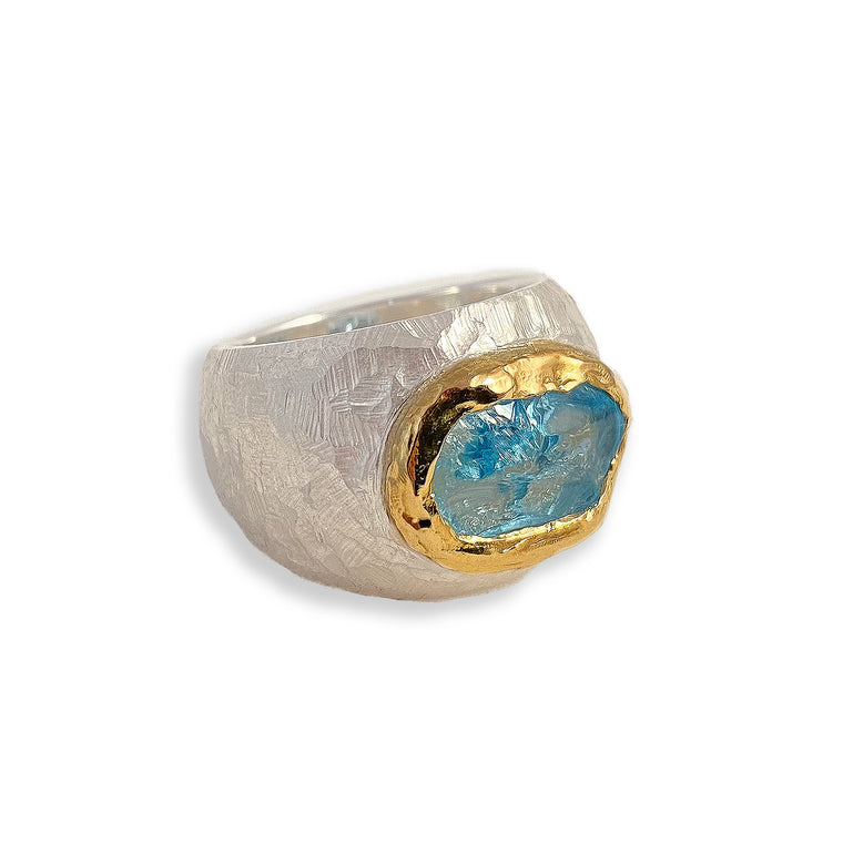 Gold, Silver & Gemstone Ring