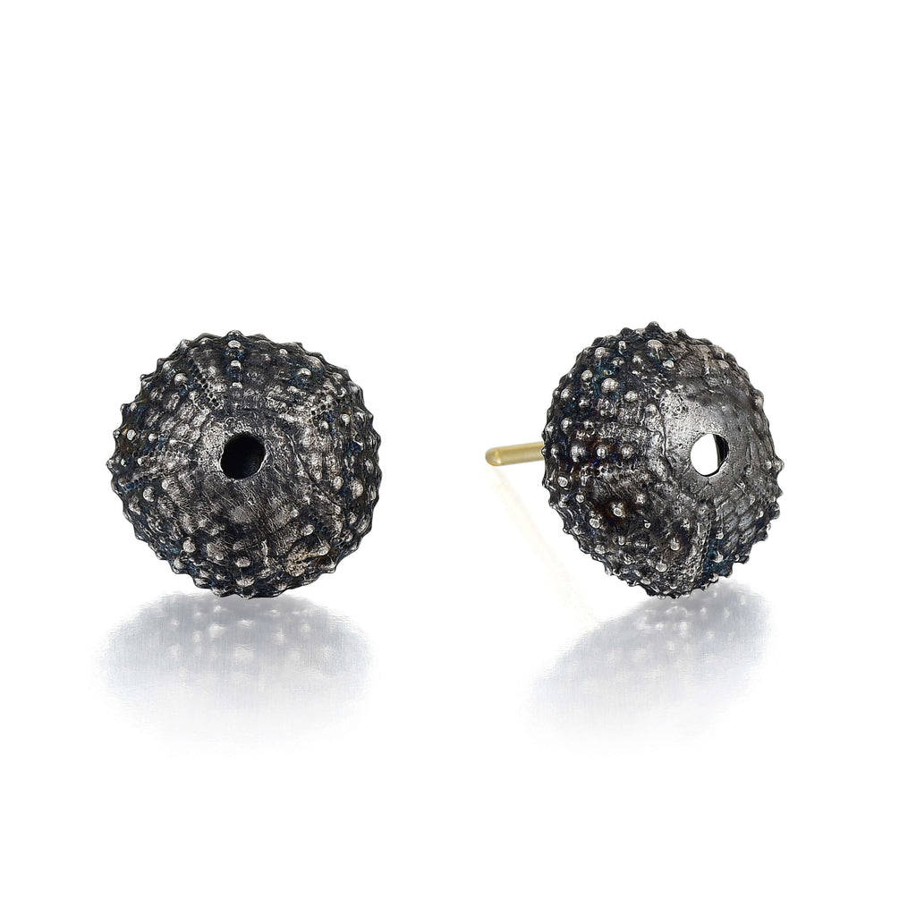 Silver Sea Urchin Stud Earrings