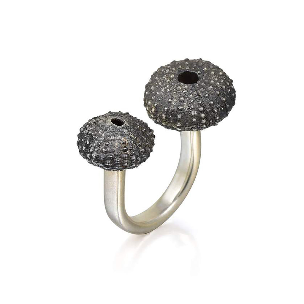 Silver Double Sea Urchin Ring