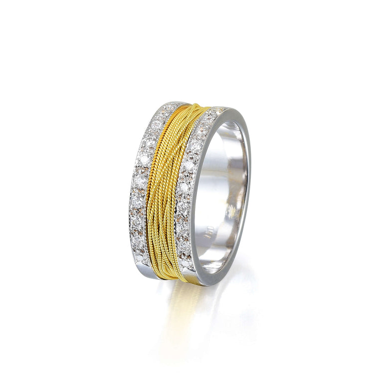 Two Tone Gold & Diamonds Ring
