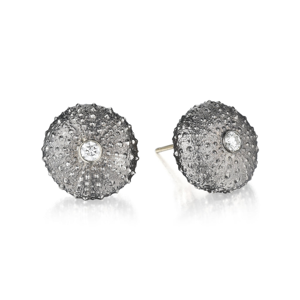 Silver, White Gold & Diamonds Earrings
