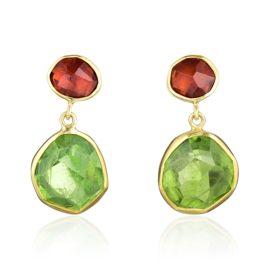 Gold & Color Gems Earrings