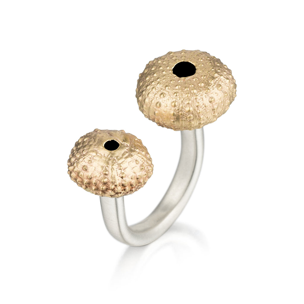 Gold & Silver Double Sea Urchin Ring