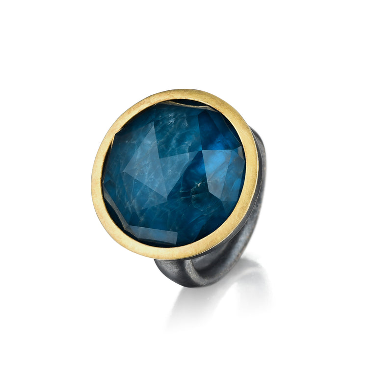 Gold, Silver & Color Gem Ring