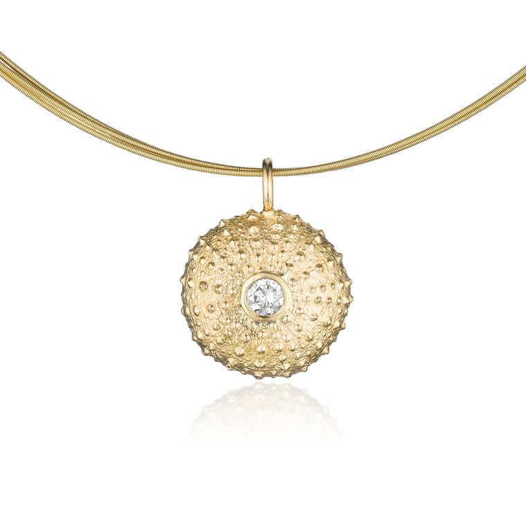 Gold & Diamond Sea Urchin Necklace