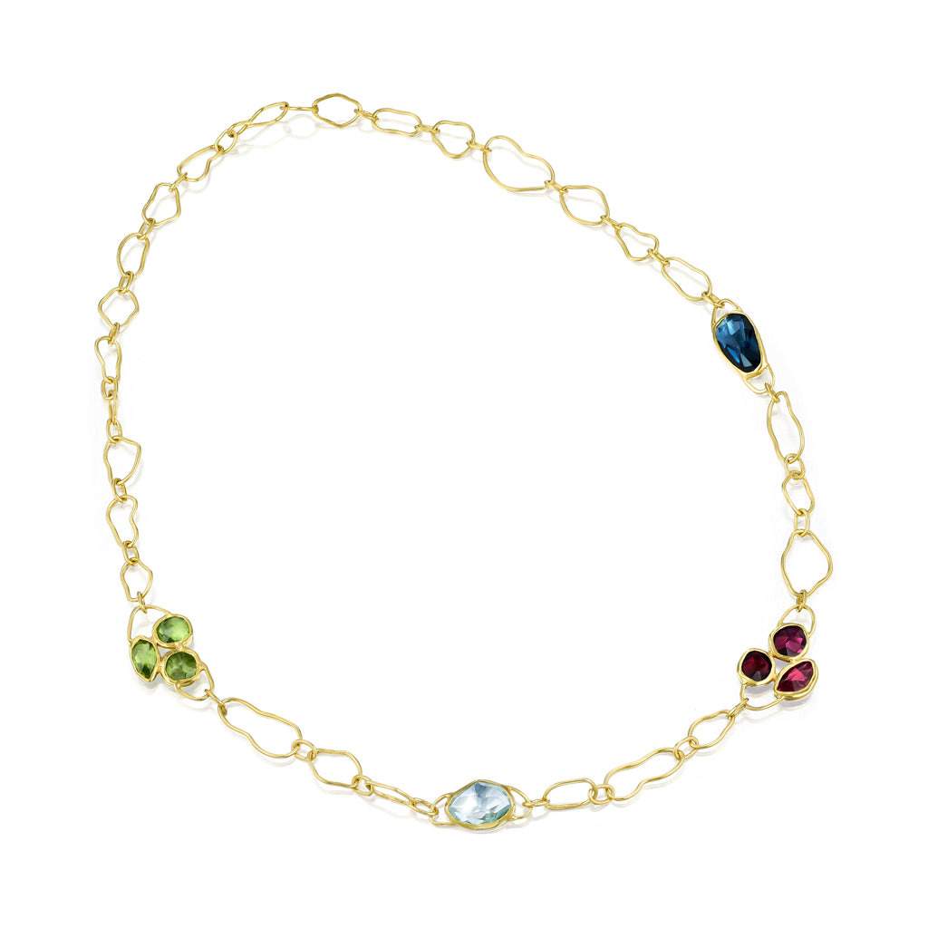 Gold & Color Gemstone Necklace