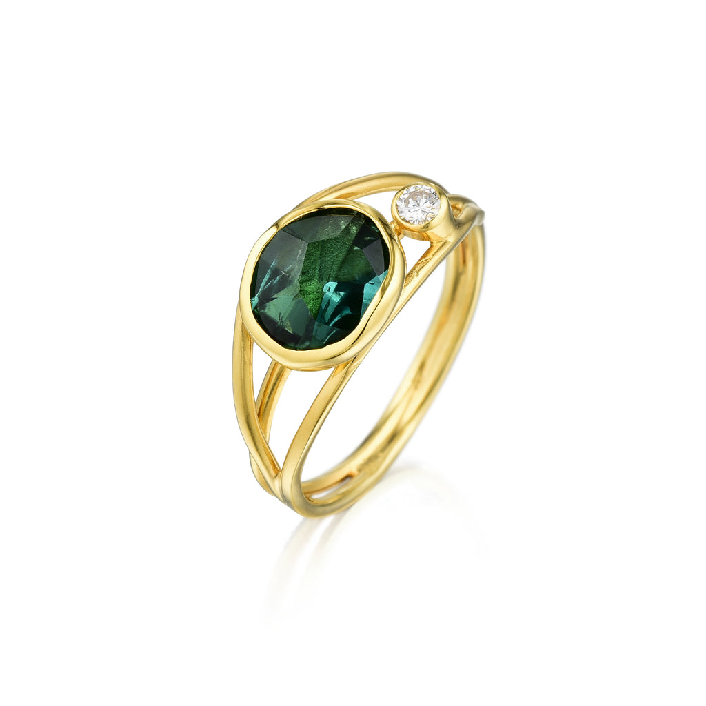 Gold, Color Gem & Diamond Ring