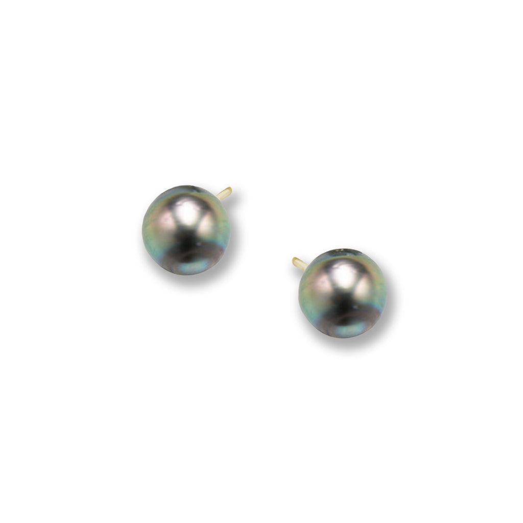 Gold & Tahitian Pearl Earrings