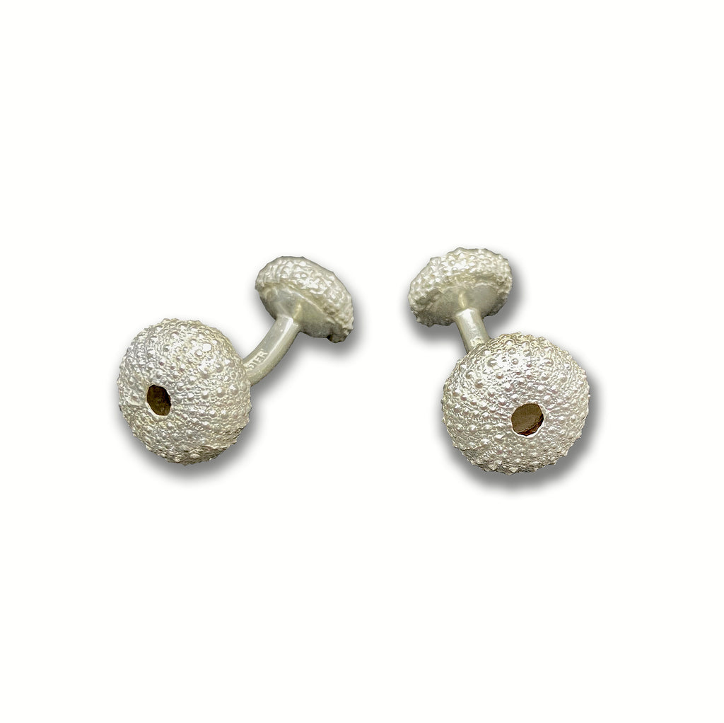 Silver Double Sea Urchin Cufflinks