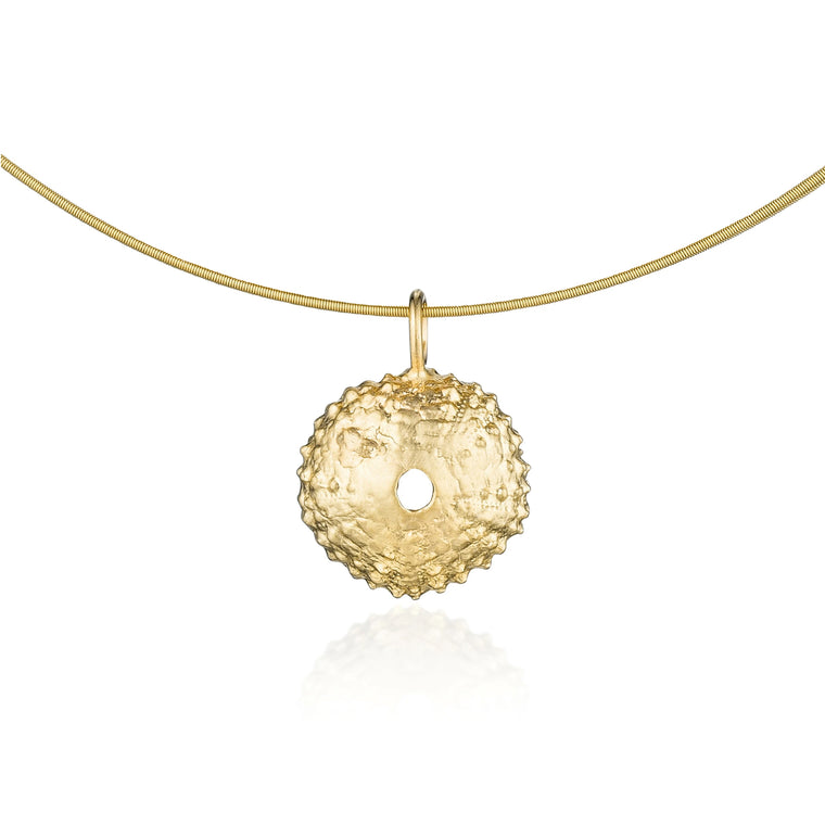 Gold Sea Urchin Necklace
