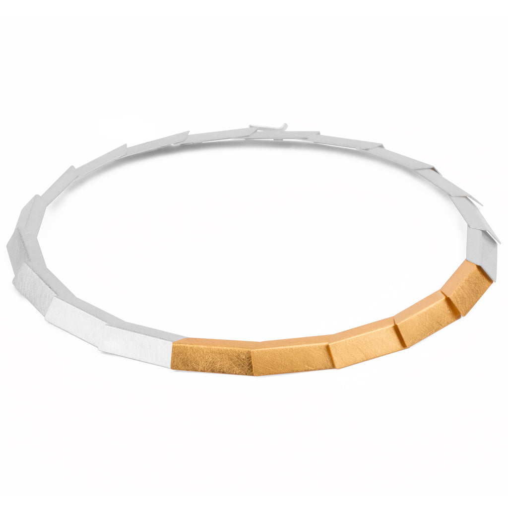 Matte Silver Two-Tone Necklace