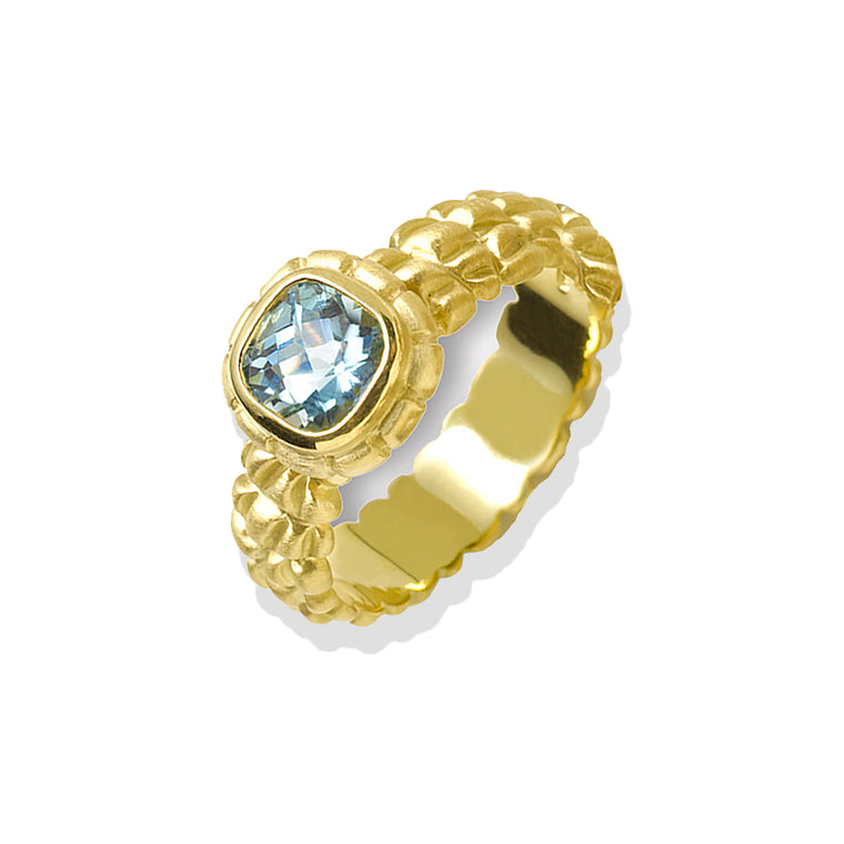 Aquamarine & Gold Ring