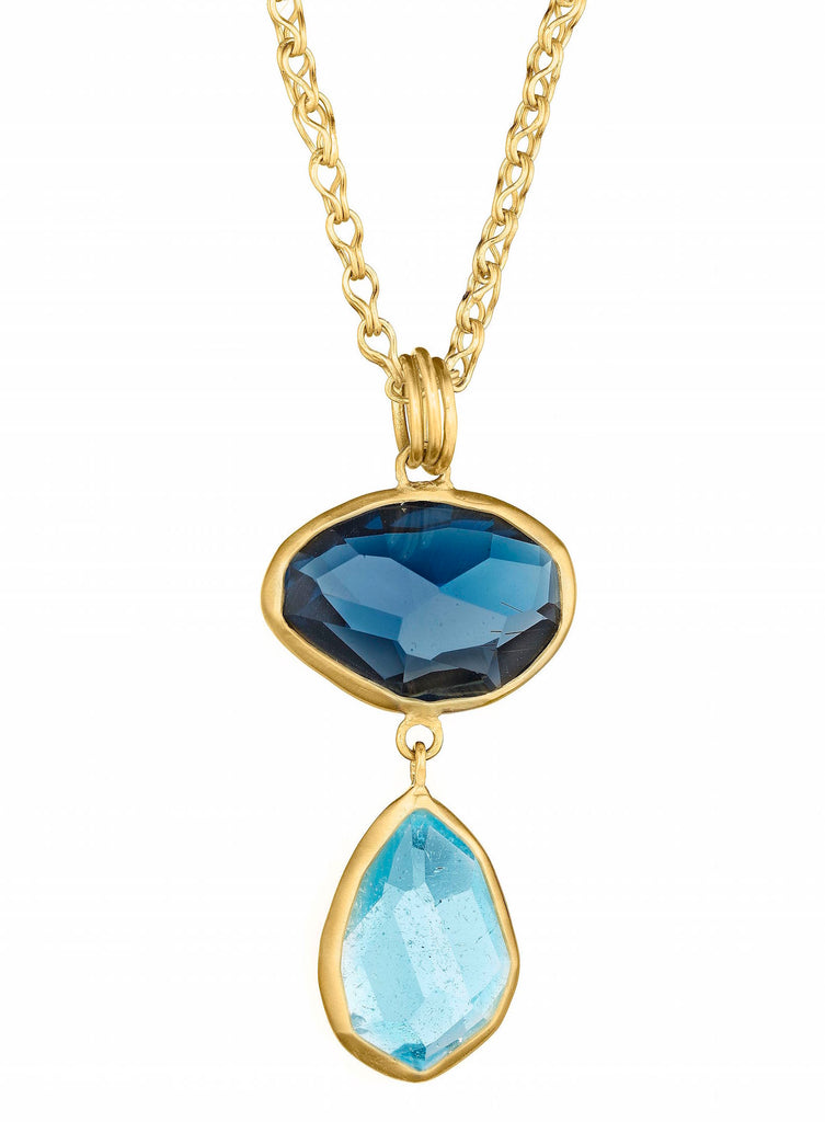 Gold & Color Gem Necklace
