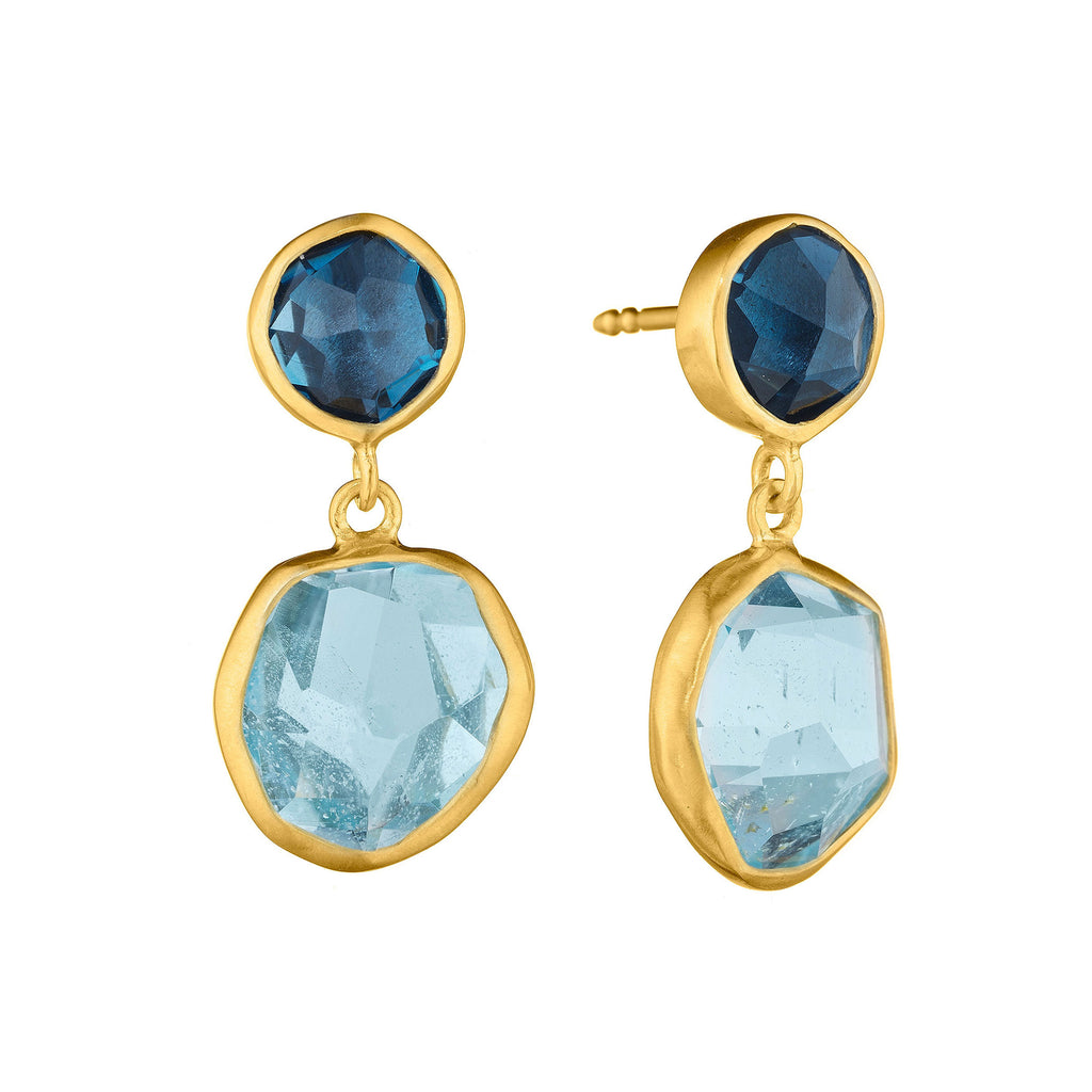 Gold & Color Gem Earrings