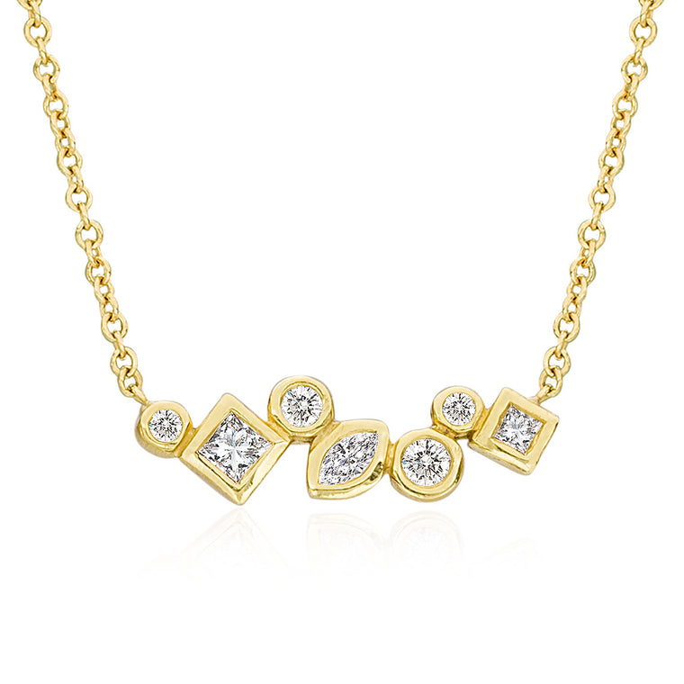 Throwing Stones Necklace Diamonds