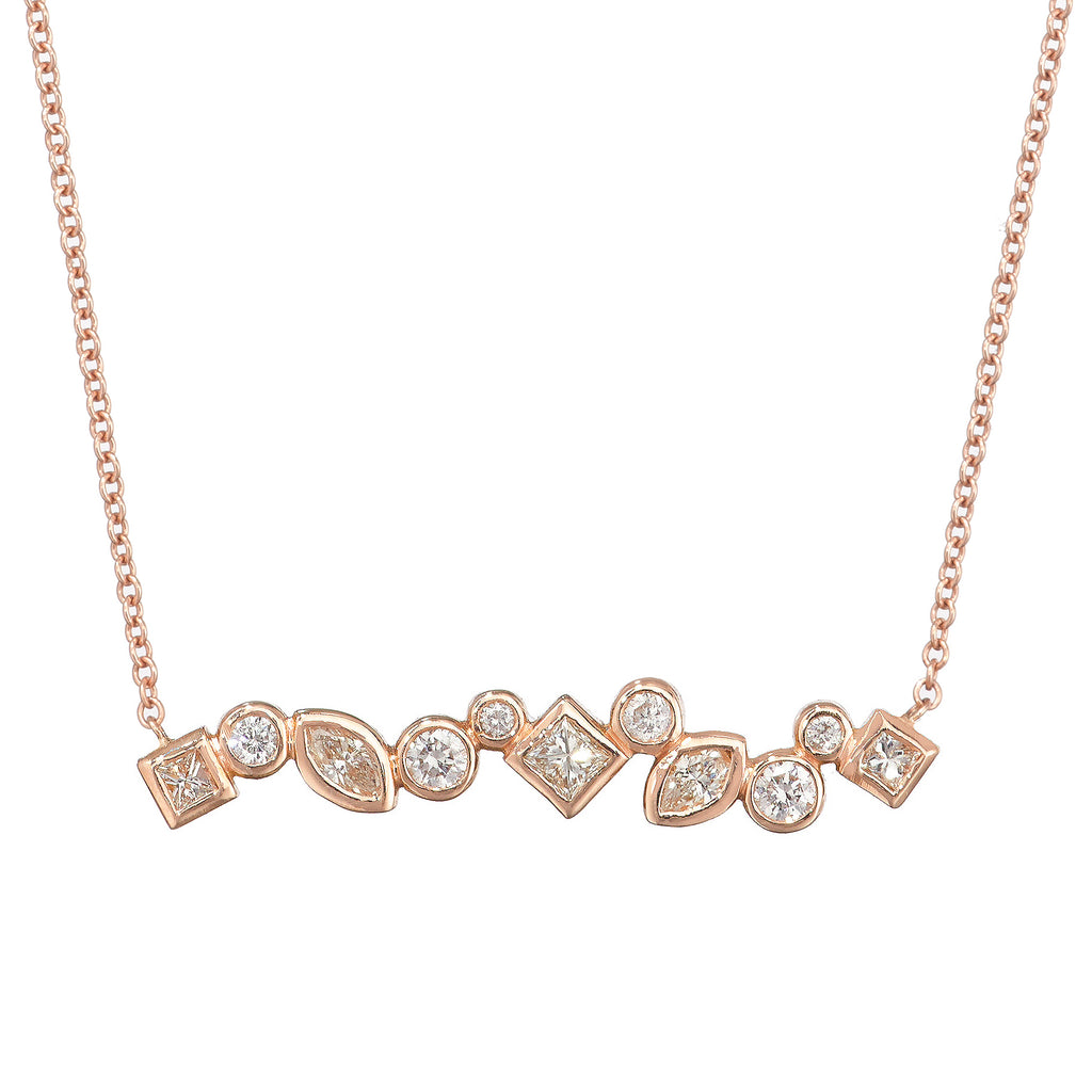 Throwing Stones Vertical Necklace Diamonds
